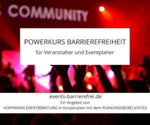 POWERKURS BARRIEREFREIHEIT